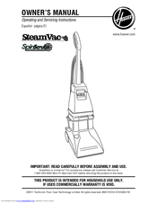 hoover steamvac deluxe spinscrub manual