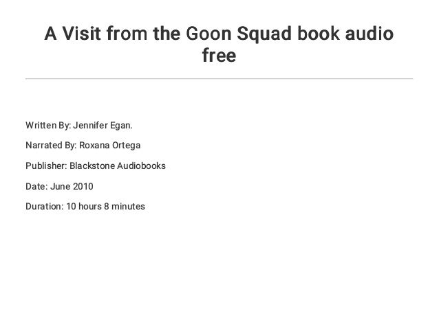 A visit from the goon squad online pdf