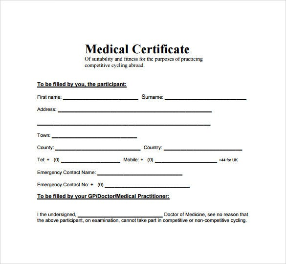 Medical certificate format for sick leave for employees pdf