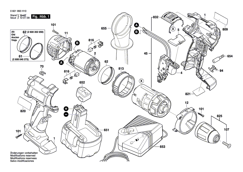 bosch power tools spare parts manual