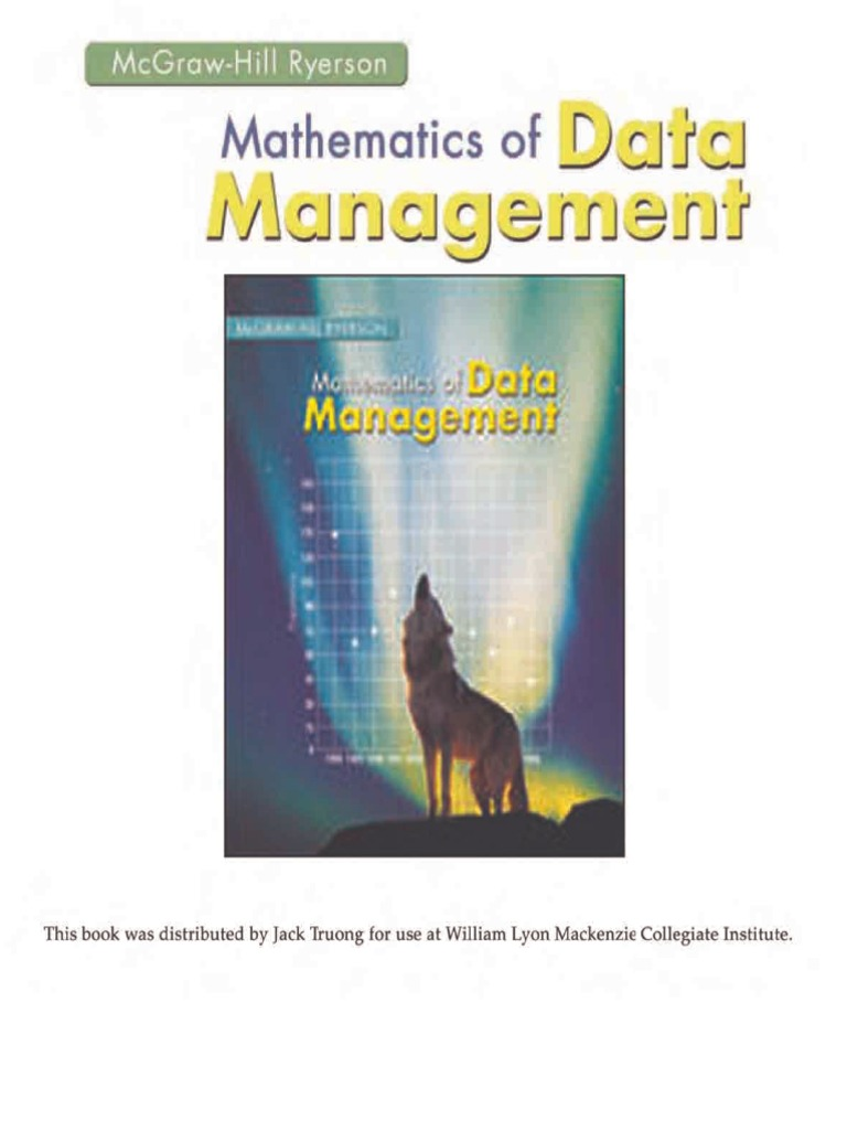 nelson mathematics of data management solution manual pdf