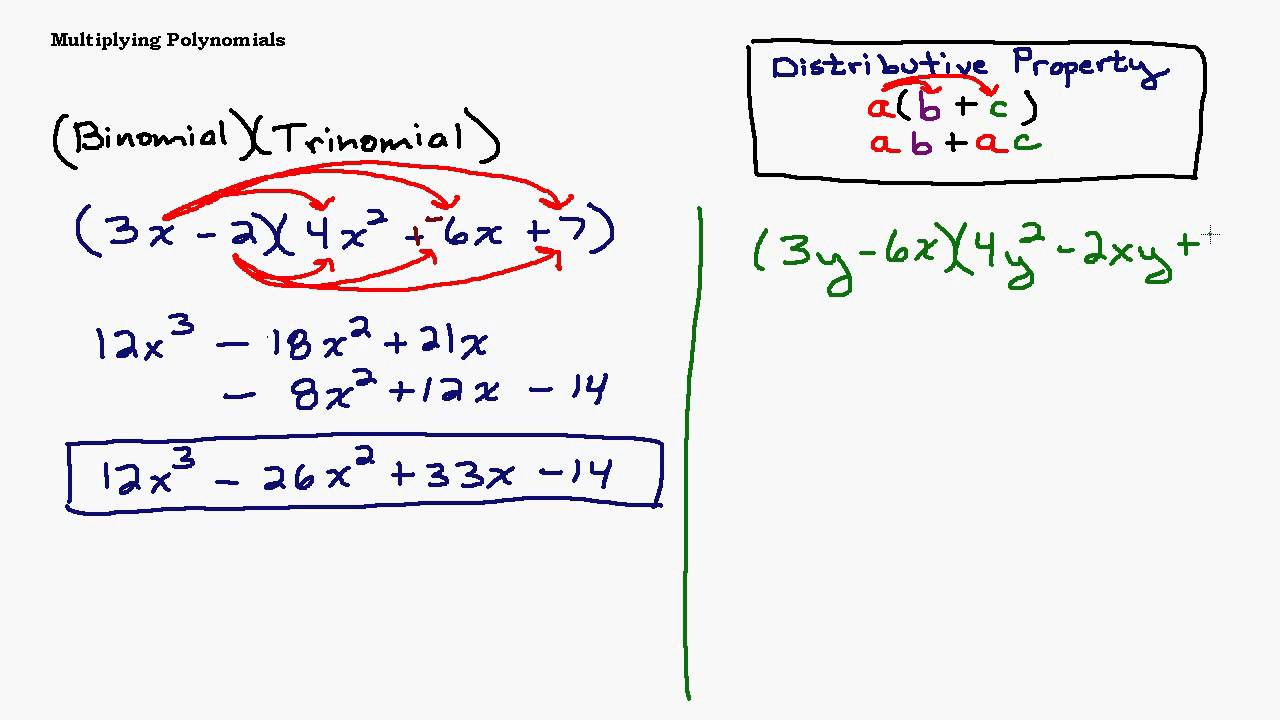 Example of binomial and trinomial