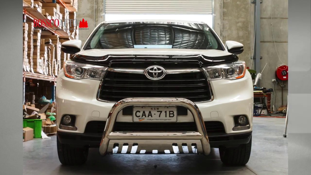Toyota hilux nudge bar fitting instructions