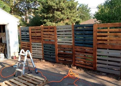 double high pallet fence instructions