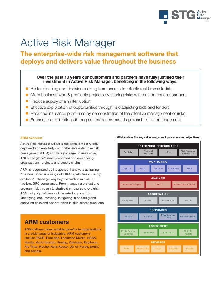 Active risk manager user manual