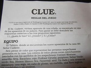clue mysteries board game instructions