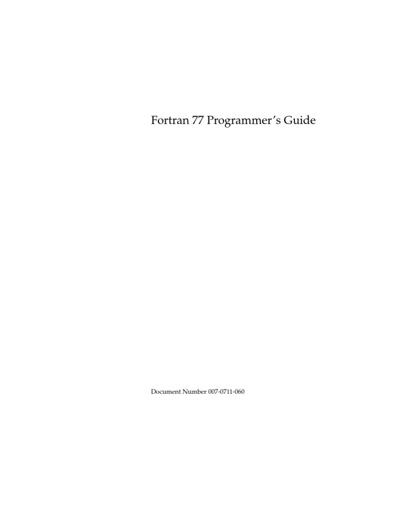 Fortran 77 book by c xavier pdf