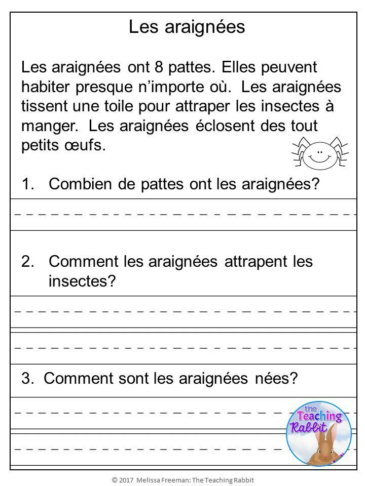 French comprehension passages with questions and answers pdf