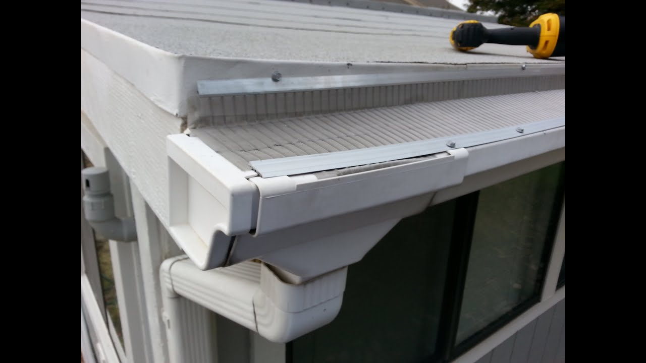 instructions for putting in metal gutter guard