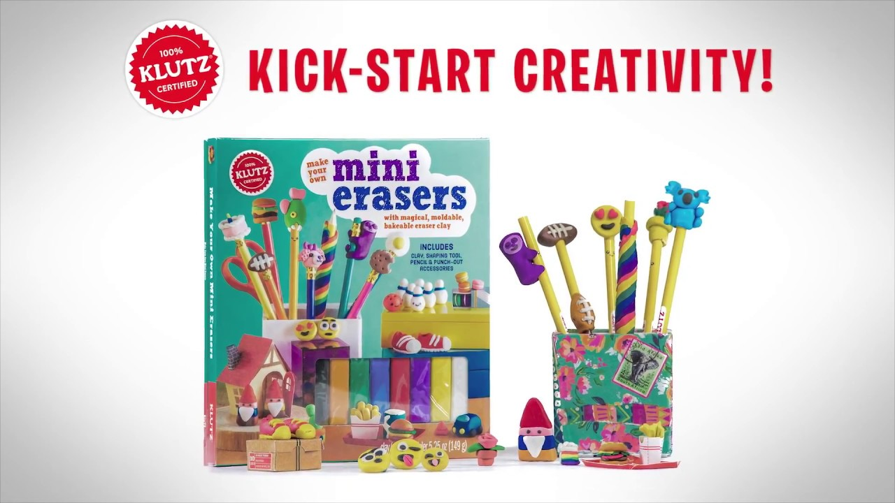 make your own mini erasers instructions
