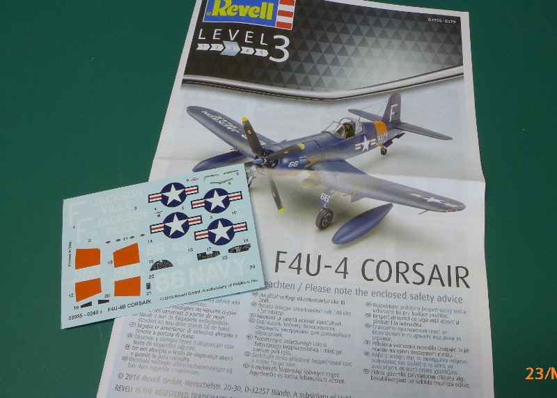 Revell corsair f4u 4 instructions