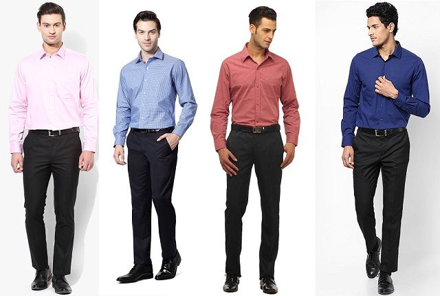 What color dress shirt with navy suit guide